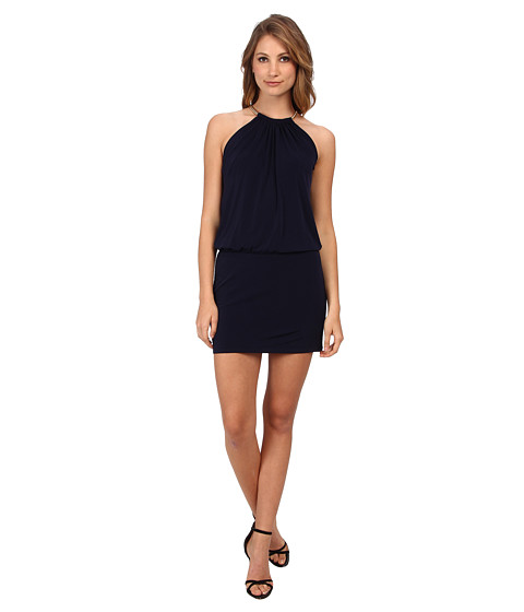 Jessica Simpson - ITY Blouson with Necklace Halter (Blue) Women