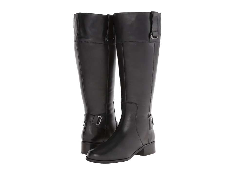 Fitzwell - Magical Wide Calf (Black Calf) Women's Zip Boots
