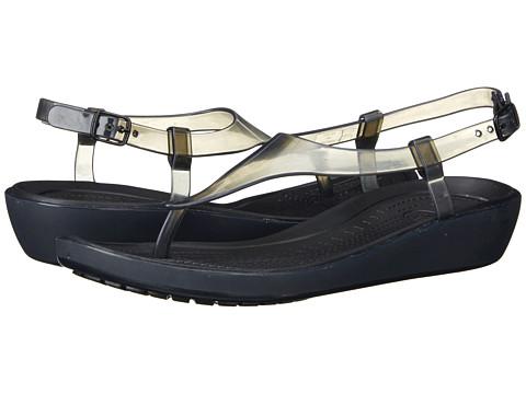 Crocs - Really Sexi T-Strap Sandal (Black/Black) Women