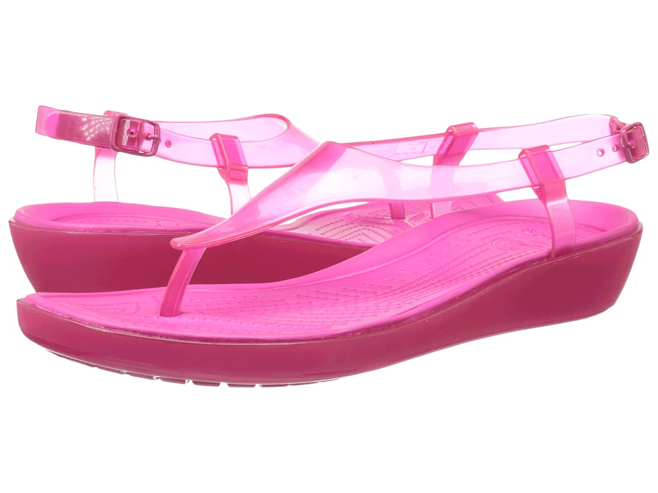 Crocs - Really Sexi T-Strap Sandal (Candy Pink/Candy Pink) Women's Sandals