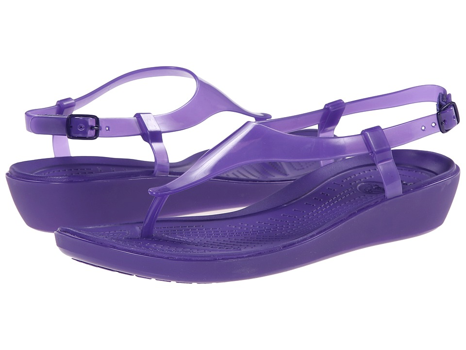 Crocs - Really Sexi T-Strap Sandal (Ultraviolet/Ultraviolet) Women