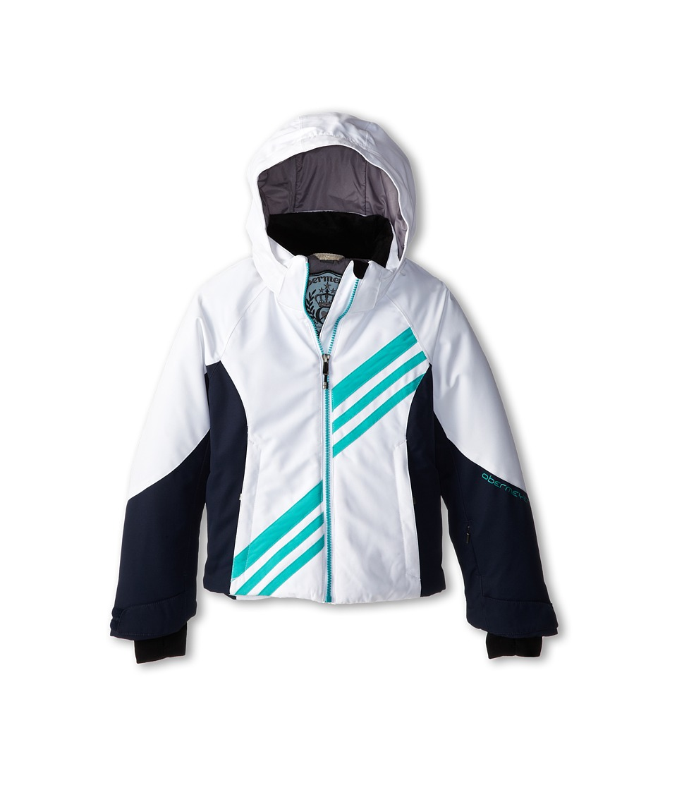 Obermeyer Kids - Nateal Jacket (Little Kids/Big Kids) (White) Girl