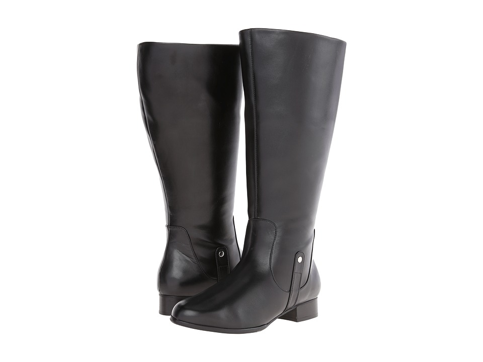 Fitzwell - Sarah Wide Calf (Black Calf) Women's Zip Boots