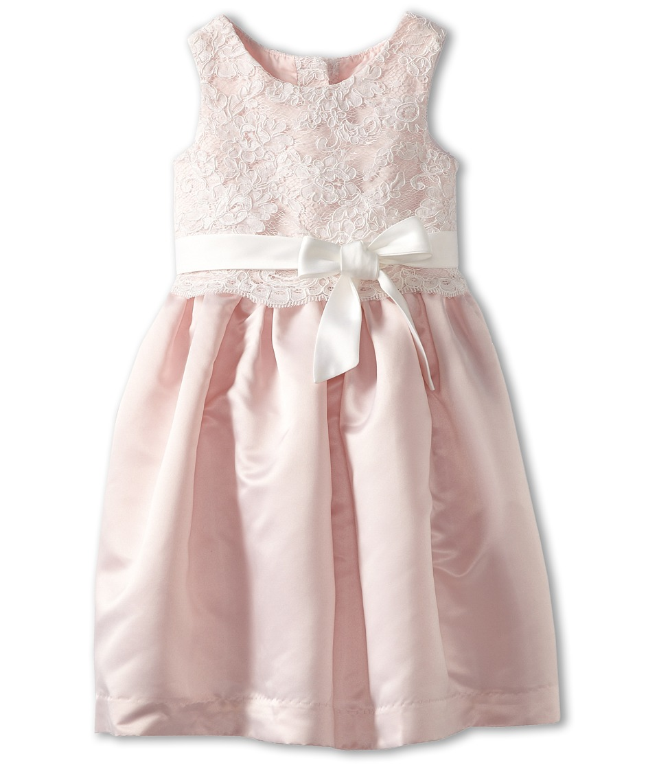 Us Angels - Lace Overlay With Satin Skirt Dress (Toddler) (Blush) Girl's Dress
