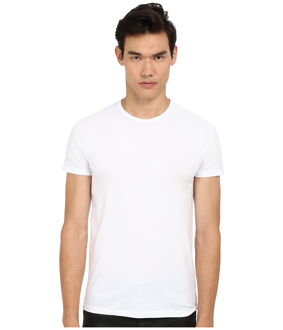 Versace - Iconic S/S Crew Neck Tee (White) Men's Short Sleeve Pullover