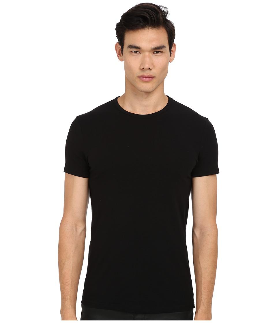 Versace - Iconic S/S Crew Neck Tee (Black) Men's Short Sleeve Pullover