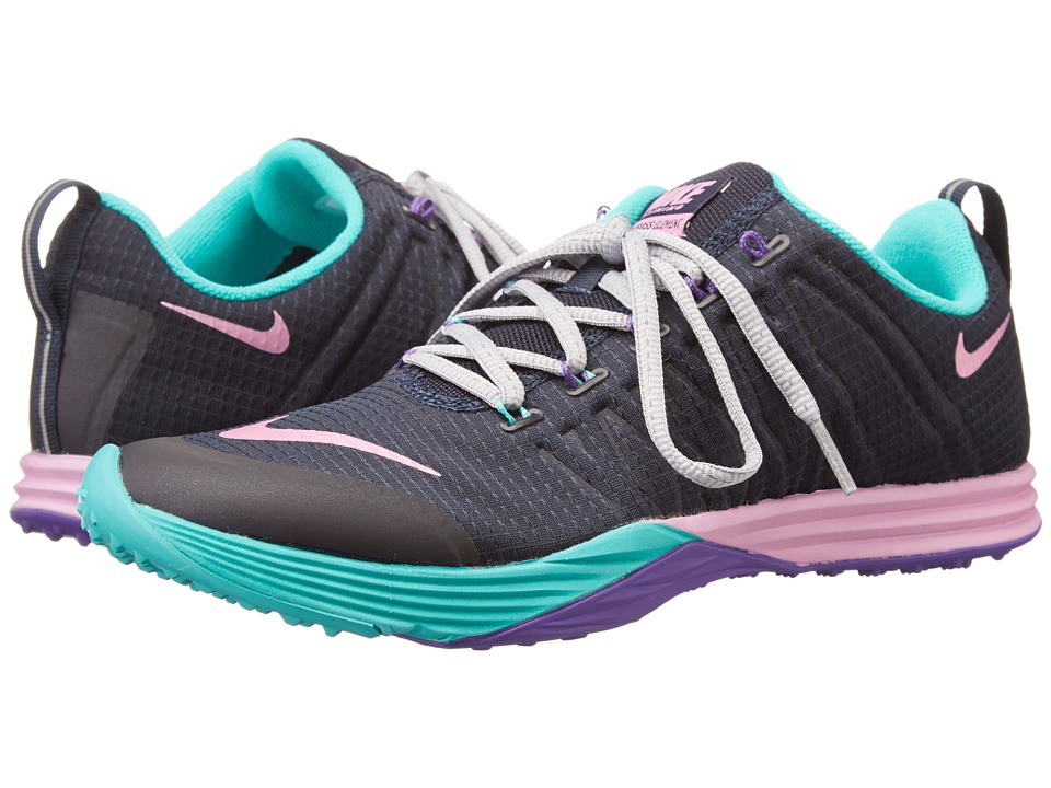 Nike - Lunar Cross Element (Obsidian/Hyper Jade/Hyper Grape/Light Magenta) Women's Cross Training Shoes