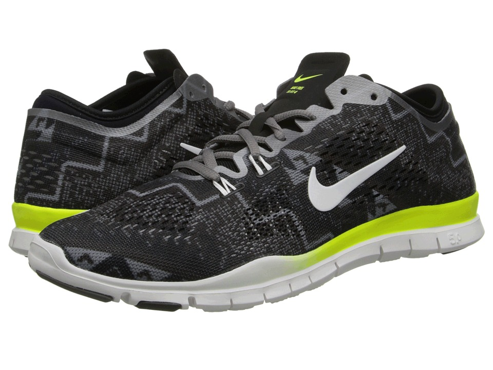 Nike - Free 5.0 TR Fit 4 Print (Black/Light Ash/Medium Ash/Ivory) Women