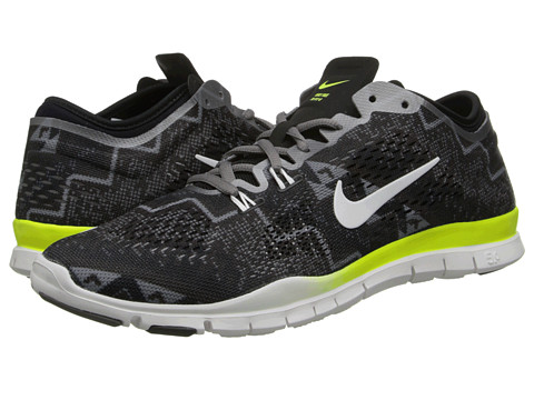Nike - Free 5.0 TR Fit 4 Print (Black/Light Ash/Medium Ash/Ivory) Women's Shoes