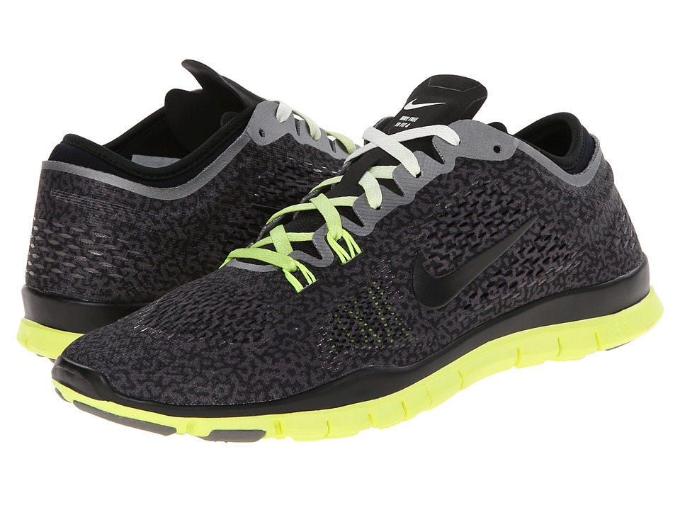 Nike - Free 5.0 TR Fit 4 Print (Medium Ash/Ivory/Volt/Black) Women's Shoes