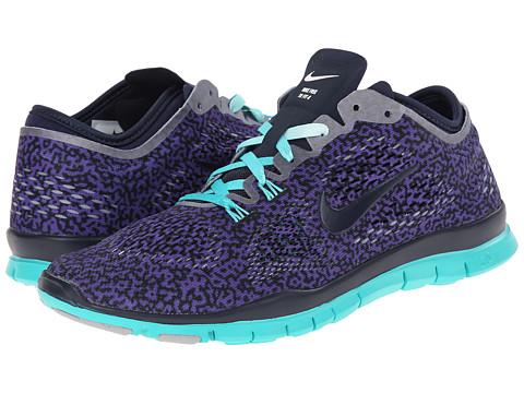 Nike - Free 5.0 TR Fit 4 Print (Hyper Grape/Ivory/Hyper Jade/Obsidian) Women's Shoes