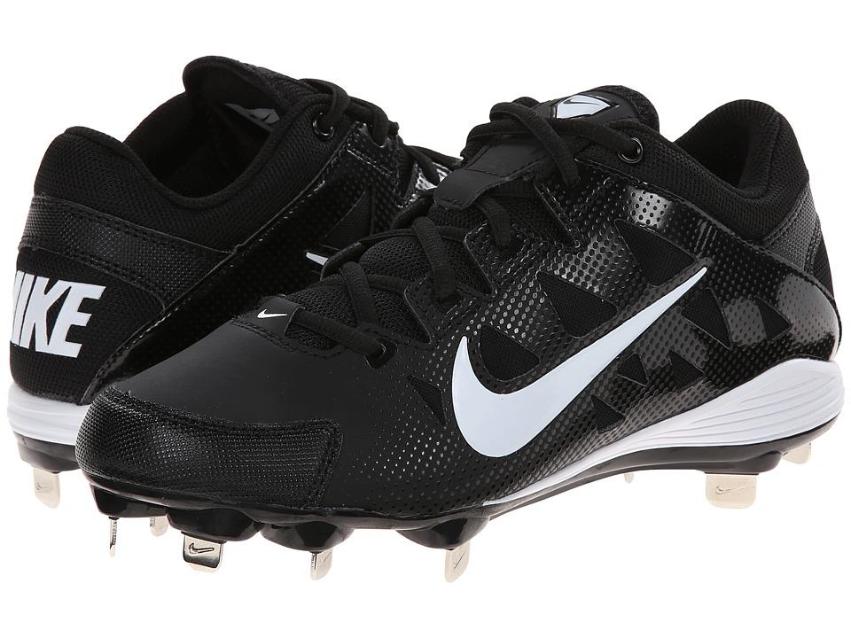 Nike - Hyperdiamond Strike MTL (Black/White) Women's Cleated Shoes