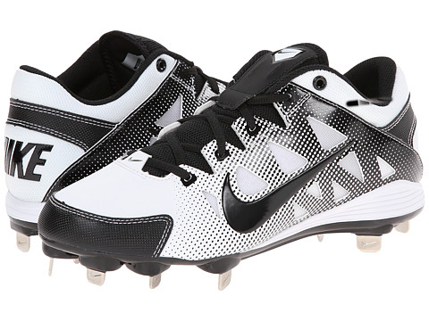 Nike - Hyperdiamond Strike MTL (White/Black) Women's Cleated Shoes