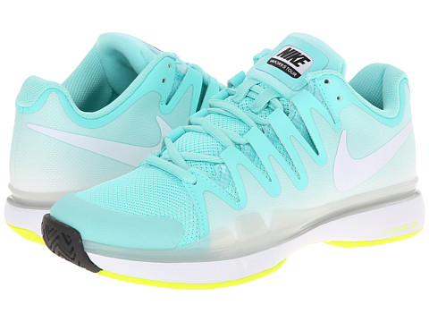 Nike - Zoom Vapor 9.5 Tour (Bleached Turquoise/Volt/White) Women's Tennis Shoes