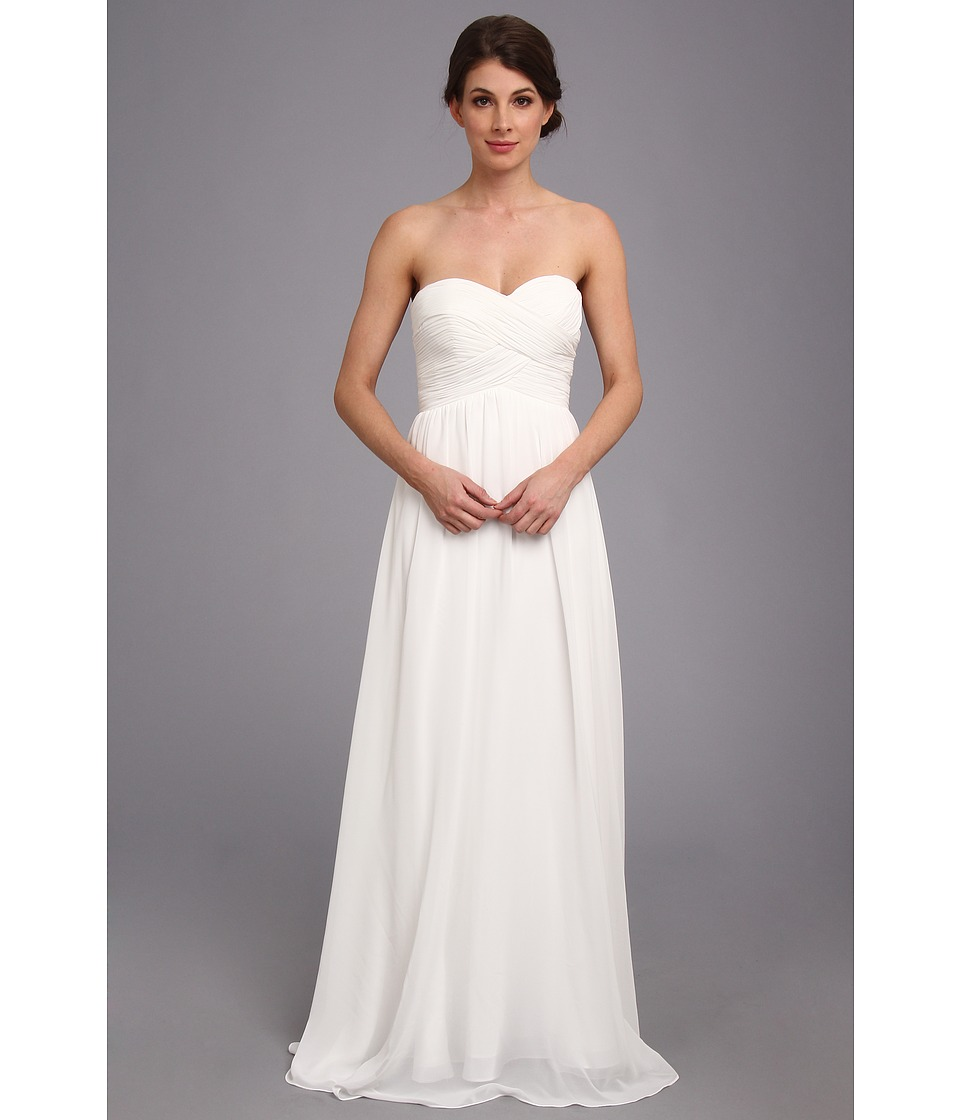 Faviana - Strapless Sweetheart Chiffon Dress 7338 (Ivory) Women's Dress
