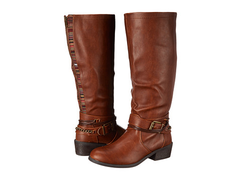 Pink & Pepper - Robbin Wide Calf (Cognac) Women's Boots