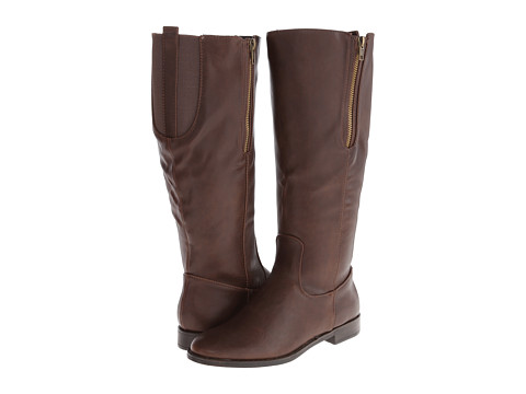 Pink & Pepper - Zipit Wide Calf (Brown) Women's Boots