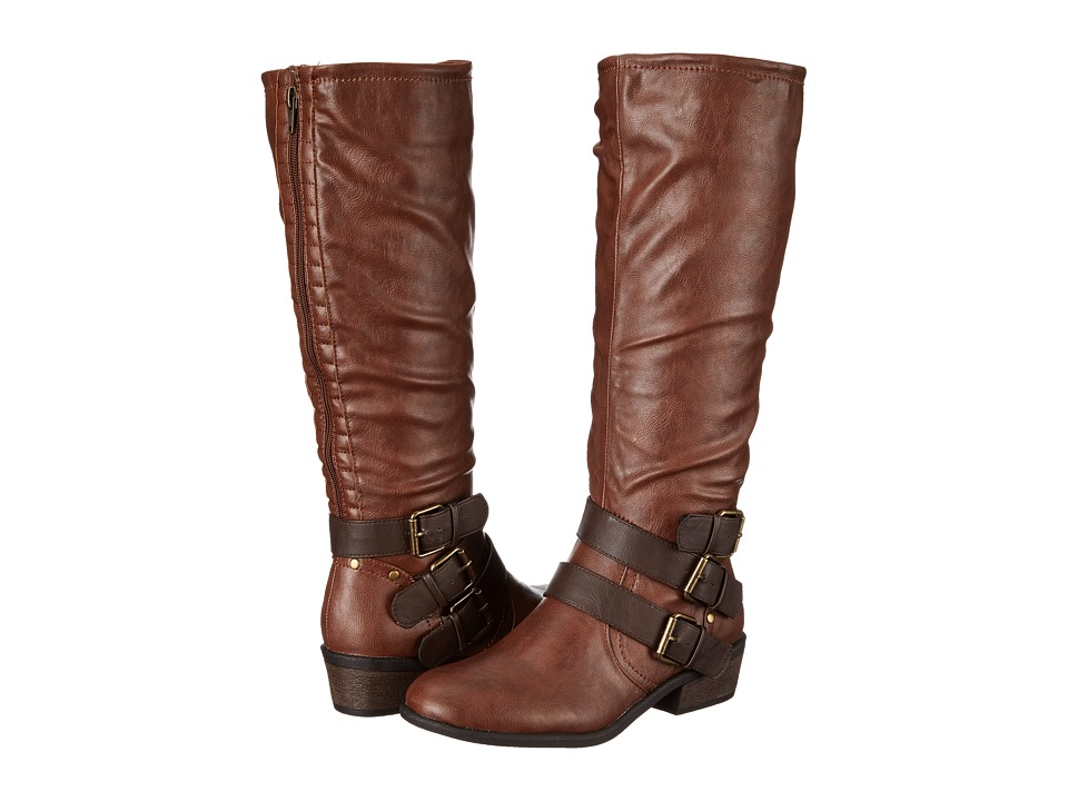 Pink & Pepper - Rammboo Wide Calf (Cognac) Women's Boots