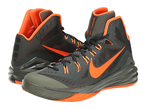 Nike - Hyperdunk 2014 (Deepest Green/Iron Green/Peach Cream/Hyper Crimson) Men's Basketball Shoes