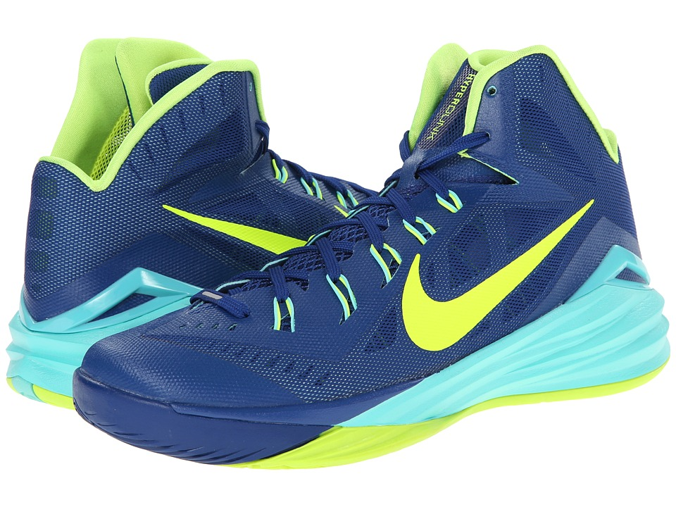 Nike - Hyperdunk 2014 (Gym Blue/Hyper Turquoise/Volt) Men's Basketball Shoes