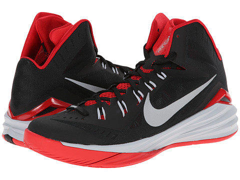 Nike - Hyperdunk 2014 (Black/University Red/Wolf Grey/Metallic Silver) Men