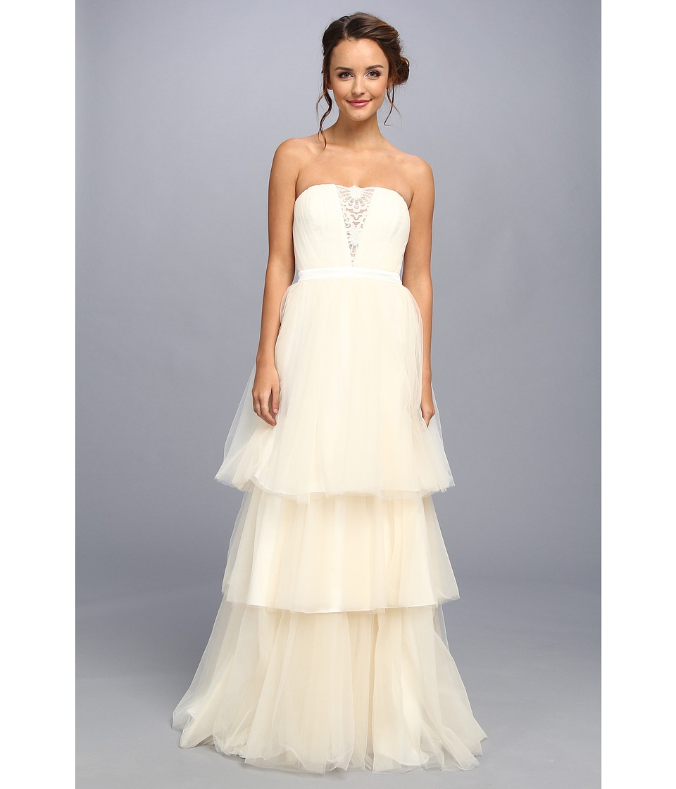 Badgley Mischka - Tulle Gown (Ivory) Women's Dress