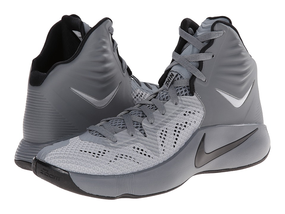 Nike - Zoom Hyperfuse 2014 (Cool Grey/Wolf Grey/Black) Men's Basketball Shoes