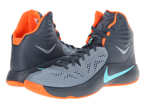 Nike - Zoom Hyperfuse 2014 (Anthracite/Cool Grey/Wolf Grey/Volt) Men's Basketball Shoes