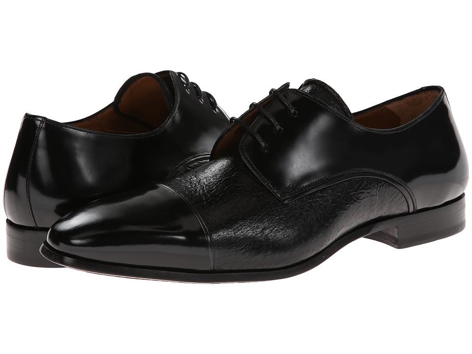 Mezlan - Fini (Black) Men's Lace Up Cap Toe Shoes