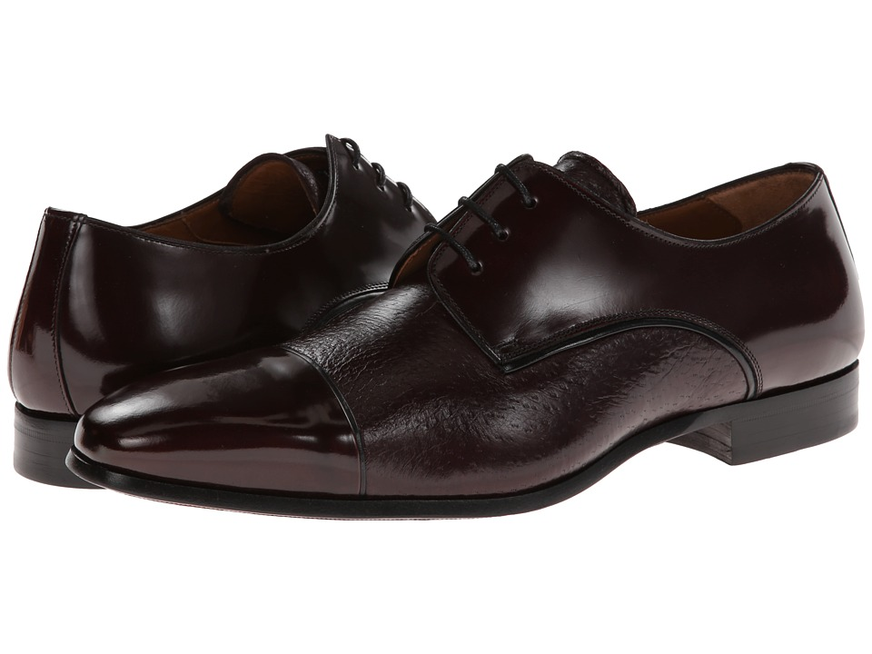 Mezlan - Fini (Burgundy) Men's Lace Up Cap Toe Shoes