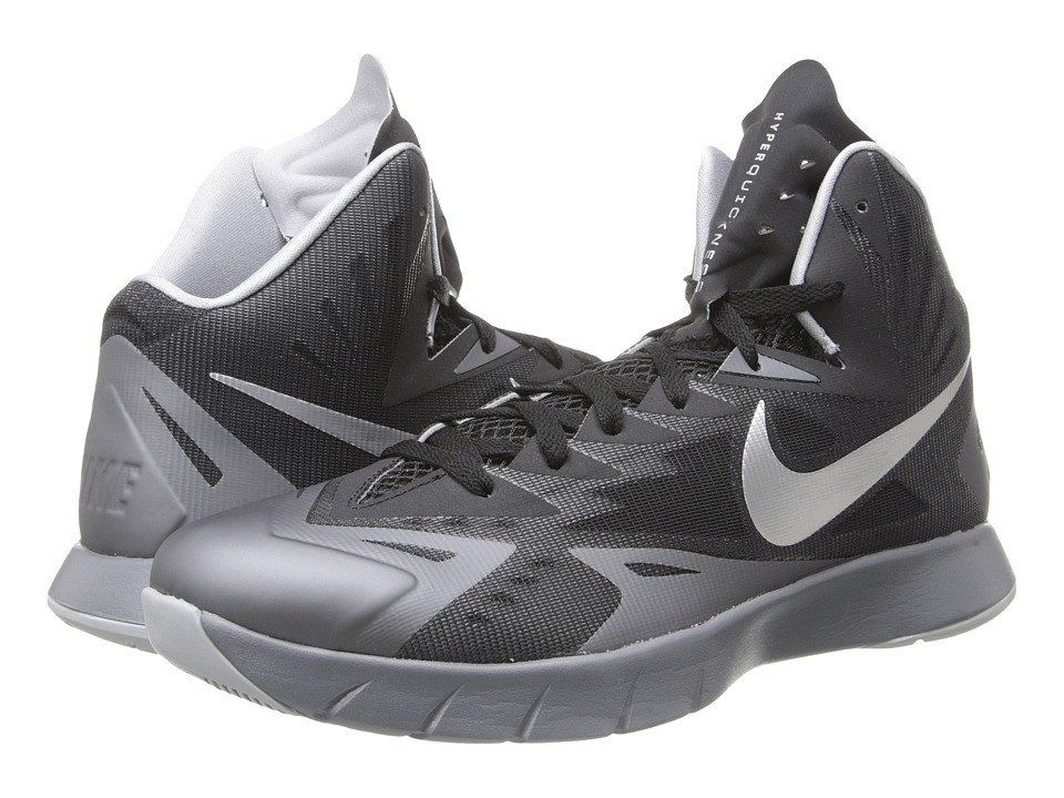 Nike - Lunar Hyperquickness (Black/Cool Grey/Wolf Grey/Metallic Silver) Men's Basketball Shoes