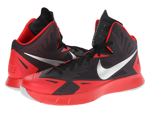 Nike - Lunar Hyperquickness (Black/University Red/Wolf Grey) Men's Basketball Shoes