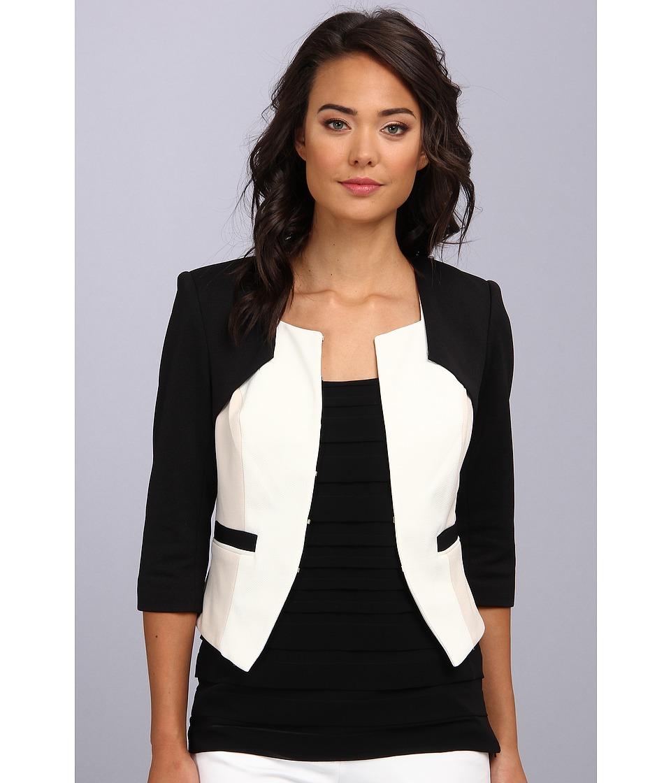 Badgley Mischka - Color Block Jacket (Ivory) Women
