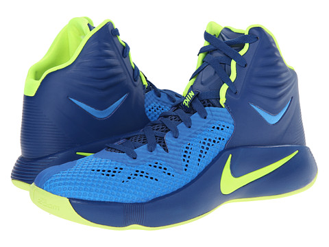 Nike - Zoom Hyperfuse 2014 (Gym Blue/Volt/Photo Blue) Men's Basketball Shoes