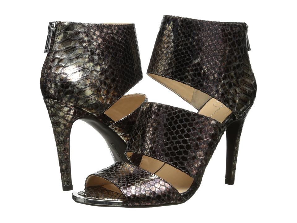 Jessica Simpson - Elsbeth (Silver Bronze Multi Metallic Snake Print) High Heels