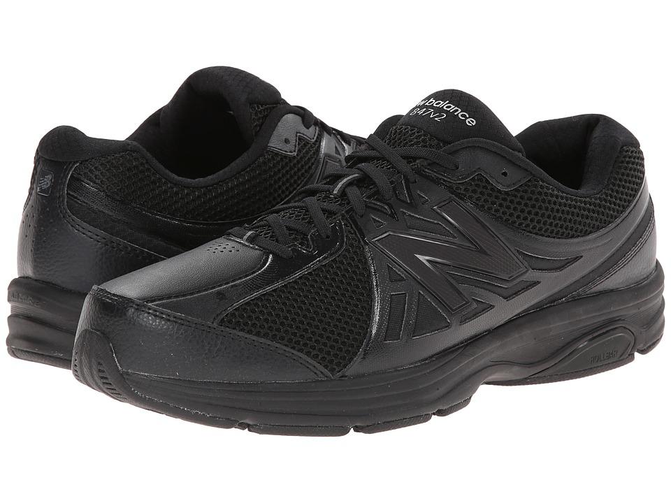 New Balance - MW847v2 (Black) Men's Walking Shoes