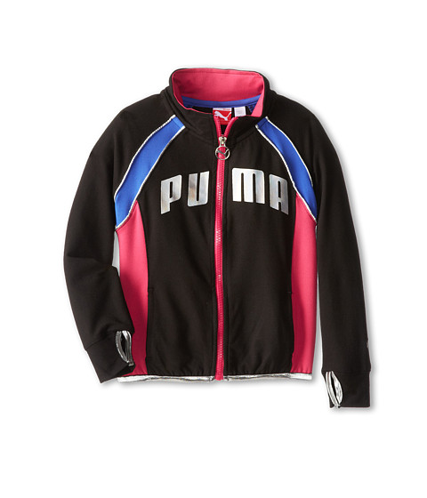 Puma Kids - Fitted Track Jacket (Little Kids) (Black) Girl