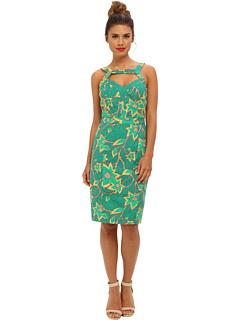 SALE! $89.99 - Save $82 on Muse Cut Out Front Fitted Sheath Dress (Green Multi) Apparel - 47.68% OFF $172.00