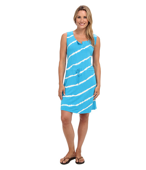 Pink Lotus - Henley Tank Drawstring Dress (Ocean Breeze) Women's Dress