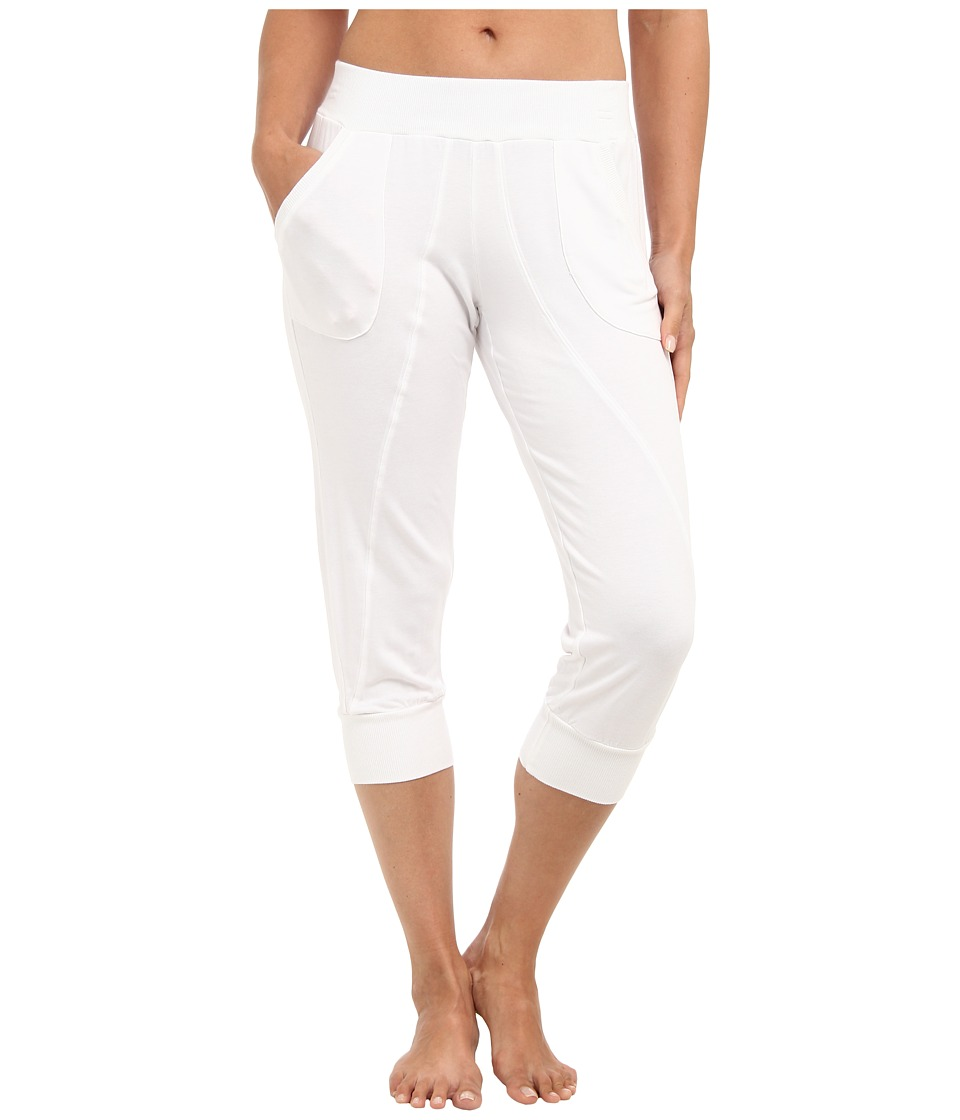 Pink Lotus - Cropped Seamed Sweatpant (White) Women's Casual Pants
