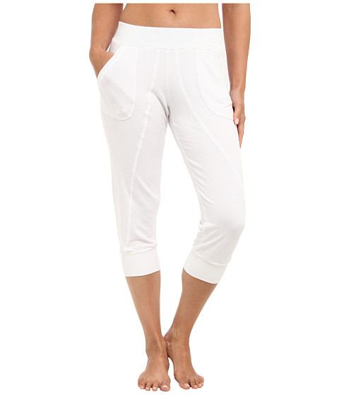 Pink Lotus - Cropped Seamed Sweatpant (White) Women