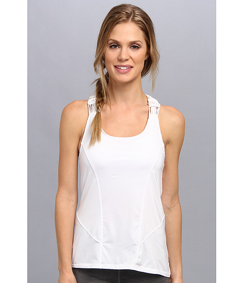 Pink Lotus - Macrame Tank (White) Women's Sleeveless