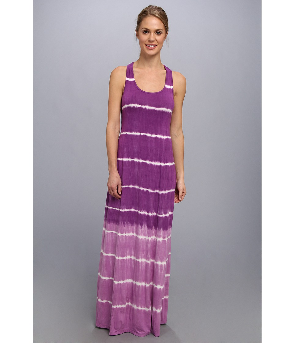 Pink Lotus - Seam Maxi Dress Twist Back (Summer Night) Women's Dress