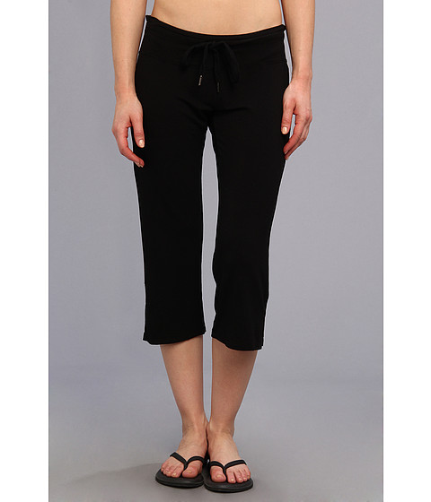 Pink Lotus - Straight Leg Capri (Black) Women
