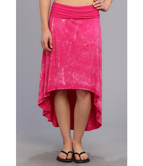 Pink Lotus - High Low Skirt (Flamingo Crackle) Women's Skirt