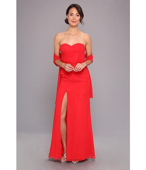 Faviana - Strapless Sweetheart Chiffon Gown 7360 (Red) Women