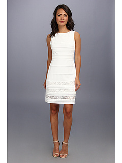 SALE! $36.99 - Save $82 on Christin Michaels Ribbed Sheath Boatneck Dress (Ivory) Apparel - 68.92% OFF $119.00