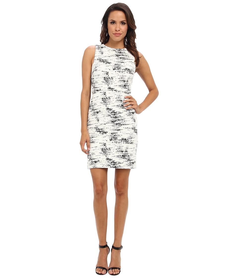 Christin Michaels - Victoria Shift Dress (Black/White) Women