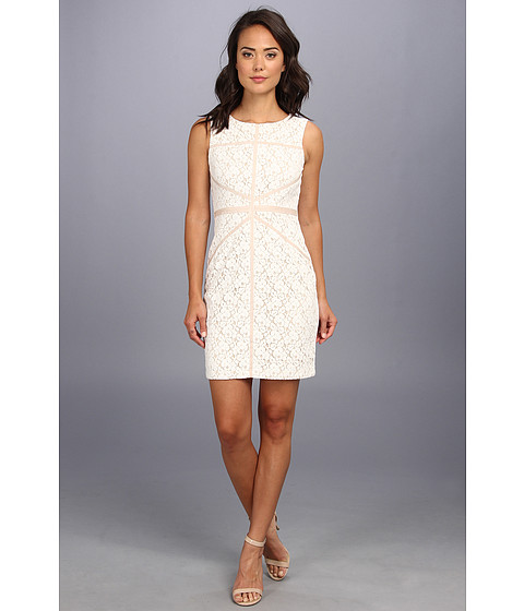 Christin Michaels - Sleeveless Sheath Lace Dress (Ivory) Women's Dress