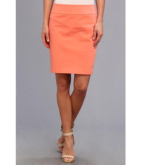 Christin Michaels - Darla Pencil Skirt (Coral) Women's Skirt
